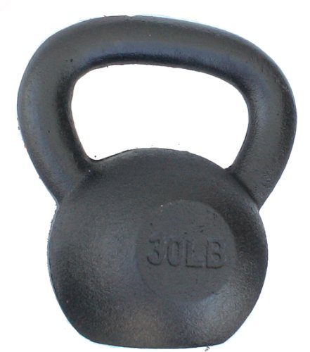 (Single) Solid Cast Iron Kettbell (30 LB)